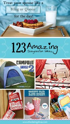 123 Amazing Staycation Ideas. The food passport is just genius!! www.TheDatingDivas.com #staycation #familyfun