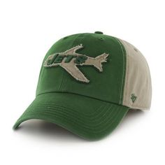 """Top off your game day gear with this """"Healey"""" Clean Up hat by 47 Brand! This officially licensed garment washed hat features high quality raised embroidery on canvas, relaxed fit, a felt front logo, a"""