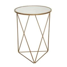 Shop for HomePop Metal Accent Table Triangle Gold Base Round Glass Top. Get free shipping at Overstock.com - Your Online Furniture Outlet Store! Get 5% in rewards with Club O! - 19094595