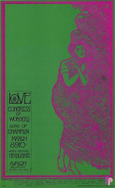Love at Avalon Ballroom 3/8-10/68 by Stanley Mouse & Alton Kelley