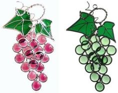 Stained Glass Grapes Suncatcher