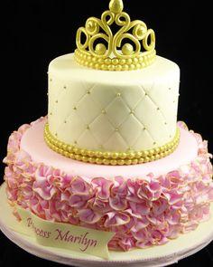 Princess Baby Shower cake #BabyshowerCakes