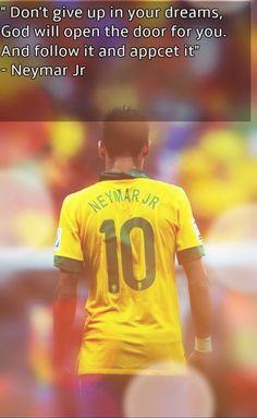 Neymar jr Neymar Quotes, Ronaldo Quotes, Neymar Jr, Major League Soccer, Football Soccer, Football Players, Inspirational Football Quotes, Motivational Quotes, Neymar Barcelona