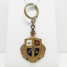 ANTIQUE KNIGHTS TEMPLAR GOLD FILLED WATCH FOB MEDAL