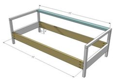 how to build a couch frame with 2x4   ... 2x4s as shown above in ...
