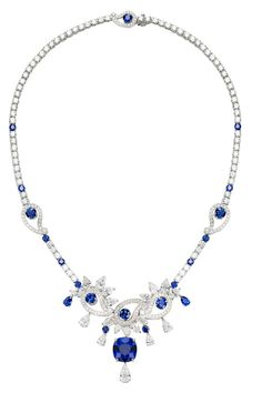 Piaget; sapphire necklace; jewelry. Sapphires for the month of September!