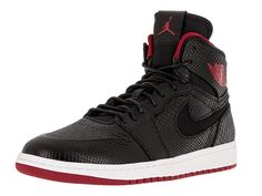 timeless design 57879 f6e04 Nike Jordan Men s Air Jordan 1 Retro High Nouv Black Gym Red White  Basketball