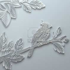 White Decorative Ornate Paper Quilling Bird Background Royalty Free Stock Photo, Pictures, Images And Stock Photography. Image 16724617.