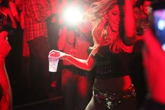 Dancer at the Smirnoff Nightlife Exchange Project Event in Sydney. 2010.