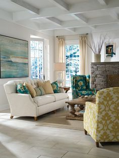 serene and restful...  Yellow & Blue Rooms To Inspire - Style Estate -