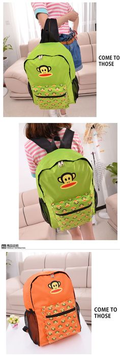 portable #backpack from #taobao like paul frank