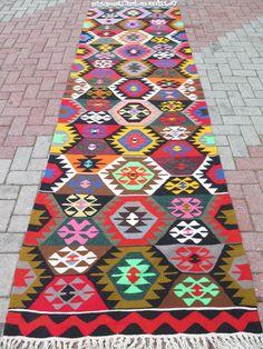 "VINTAGE Handwoven Turkish Kilim Rug Runner Carpet, Floor Kilim Rug Carpet 40,1"" x 133"" Anatolia Rug Runner by TurkishKilimRug on Etsy https://www.etsy.com/listing/215377790/vintage-handwoven-turkish-kilim-rug"