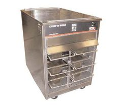 "Carter-Hoffmann Vertical Crisp N Hold Cabinet capacity: (6) 1/2 size x 4"""" high temp amber pans (not included) or (6) 6"" x 20"" x 4"" 1/2 size..."