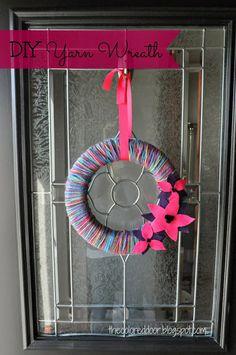 DIY Yarn Wreath - the colored door
