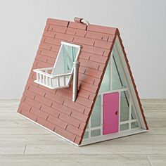 Shop A-Frame Dollhouse.  Make yourself at home in our A-Frame Dollhouse.  Bright, modern and filled with style, this dollhouse includes plenty of rooms for your kids to play and make-believe.