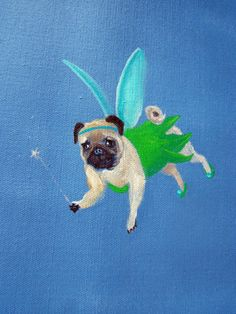 "Pug Art Print of an original oil painting/ ""Tinker Pug"" / 8 x 10 / Dog art Pug Dog Art Print / ""Tinker Pug"" / By Original Mike Holzer Pug Cartoon, Rottweiler Mix, Carlin, Baby Pugs, Pug Art, Dog Runs, Pug Puppies, Pug Love, Retro"