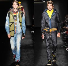 Triton 2014 Winter Mens Runway Collection - São Paulo Fashion Week Brazil - Inverno 2014 Homens Desfiles - Destroyed Denim Jeans Coated Waxe...