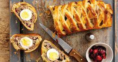Egg, cranberry and sausage plait: recipe from Crumbs Magazine
