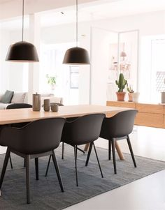 Ambit Muuto Pantone Pendant Light - Ambit pendant lightSuitable for cafe, dining, kitchen island, bedroom, study room. Country Kitchen Island, Black Kitchen Island, Stools For Kitchen Island, Kitchen Chairs, Freestanding Kitchen, Concrete Kitchen, Home And Deco, Dining Area, Pantone