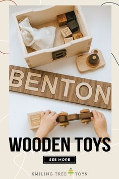 Shop Name Puzzles, wooden alphabet blocks, camera imagination toys, toy cars and trucks, and of course personalized crates to organize all your kids' wooden toys in too! Handcrafted in the USA from sustainable woods, Smiling Tree Toys guarantee all our toys for LIFE and plant trees with every order! #woodentoys #woodtoys #educationaltoys Childrens Gifts, Gifts For Kids, Wooden Alphabet Blocks, Imagination Toys, Wood Home Decor, Wood Toys, Educational Toys, Baby Toys, Special Gifts