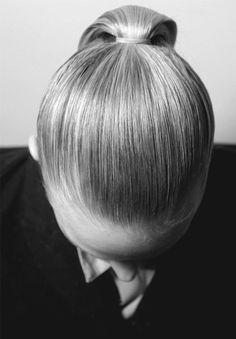 chic, sleek, ponytail.ZsaZsa Bellagio