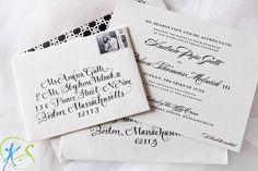 Black Tie Letterpress Invitations