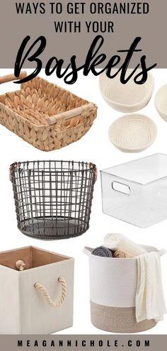 Conquer Household Storage using Baskets | MeaganNichole.com Craft Room Storage, Fabric Storage, Cube Storage, Storage Bins, Dollar Tree Organization, Craft Organization, Spare Room Closet, Wooden Organizer, Basket Storage