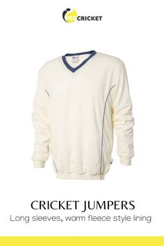 Long sleeve cricket jumpers with warm fleece style lining. Available on eBay, in navy blue and maroon trim. Perfect for keeping warm on the cricket pitch Cricket Whites, Keep Warm, Sportswear Brand, Navy Blue, Jumpers, Pitch, Sweatshirts, Long Sleeve, Mens Tops