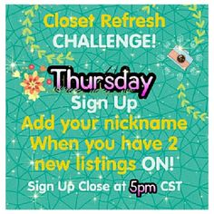 ✨Closet Refresh Share Group✨ Thursday Sign In Free People Other