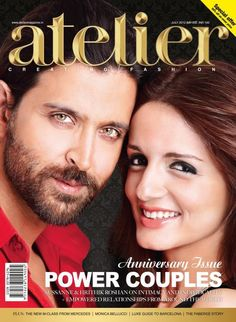 Hrithik Roshan and Sussanne Roshan on The Cover of Atelier Magazine India July 2012 | Bollywood Cleavage