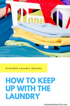 How To Keep Up With The Laundry | With this printable routine my kids can help with the laundry and I can have my Saturdays back via @housewifehowtos