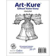 Crafters Companion > Liberty Bell - Art-Kure Landmarks EZMount Stamp - Crafter's Companion: A Cherry On Top