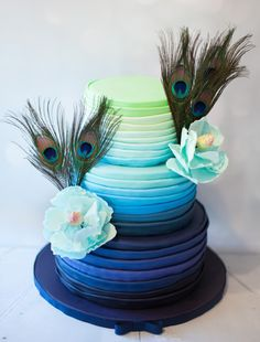 Artistic Wedding Cakes by Rebekah Naomi Cake Design ~ we ❤ this! moncheribridals.com