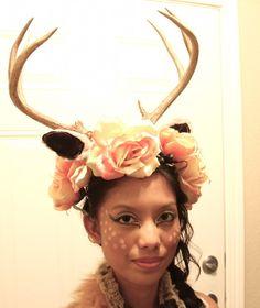 DIY Deer Antlers Headpiece #halloweenCostume