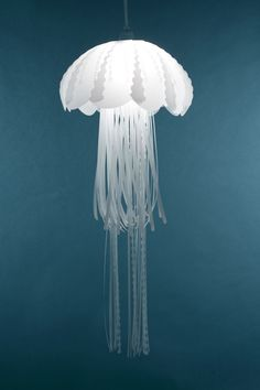 Form some sort of jellyfish lamp with our origamis? Then accentuate with extra paper. -- Jellyfish Inspired Lighting Collections