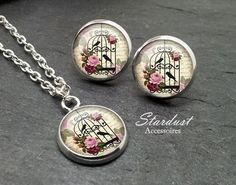Schmuckset silber ✿ Vogelkäfig ✿ von Stardust Accessoires auf DaWanda.com