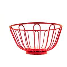 red wire basket retro decor kitchen fruit bowl baskets by nashpop, $22.00