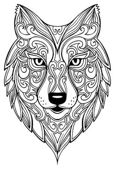 Wolf Adult Coloring Pages from Animal Coloring Pages category. Printable coloring pictures for kids you could print out and color. Have a look at our selection and printing the coloring pictures for free. Insect Coloring Pages, Mandala Coloring Pages, Animal Coloring Pages, Coloring Book Pages, Printable Coloring Pages, Coloring Pages For Kids, Coloring Sheets, Kids Coloring, Coloring For Adults