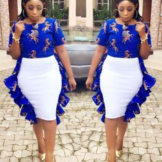 2019 Beautiful Ankara Skirt And Blouse styles for All Women African Fashion Designers, Latest African Fashion Dresses, African Dresses For Women, African Print Dresses, African Print Fashion, Africa Fashion, African Attire, African Wear, African Women