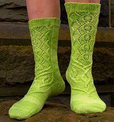 Ажурные зеленые носки. Текстовое руководство