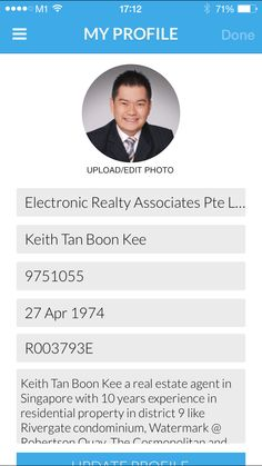 Propnavi Agent profile. Call Keith Tan @ 97501055 to find out more.