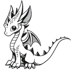 Cute Little Dragon Drawing Cute Dragon Drawing Cute Dragons