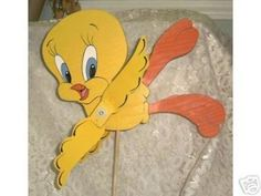 Whirligig, Wind Spinner Handcrafted Tweety Bird by Somethingpretty for $45.00