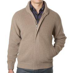 b62fae019bf Merino Wool Ribbed Full-Zip Cardigan with Shawl Collar. Merino WoolMen  SweaterZipMen s Knits