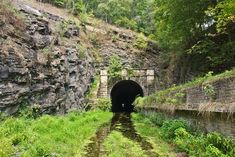 https://flic.kr/p/y9kCnd | Paw Paw Tunnel on the C&O Canal in Allegany County, Maryland | A view of the West end (upstream) of the tunnel from the canal bed.  Mile 155.8.