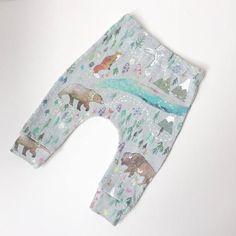 Organic Baby Pants Harem Leggings SUMMER AURORA Handmade