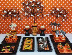 Mesas dulces de Halloween