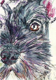 Schnauzer wall art, Schnauzer print,Schnauzer decor, Schnau… #dogowner… visit oscarjetson.com to see cool dog art oscarjetson.com
