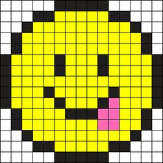 Toungue Stuck Out Emoji Perler Bead Pattern / Bead Sprite