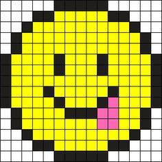 Toungue Stuck Out Emoji Perler Bead Pattern / Bead Sprite